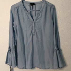 GNW Bell Sleeved 1/4 ButtonUp Ladies Top Size S